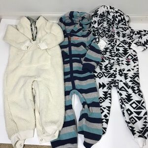 Lot of 3: Baby Bunting Warm Playsuits 24 Mo
